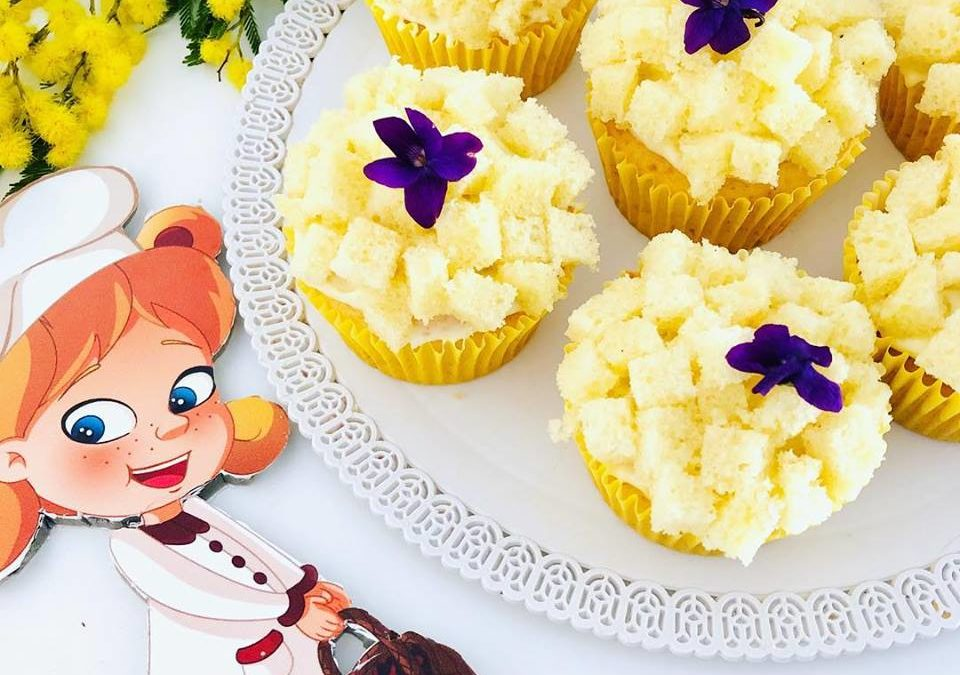 Cupcake alla mimosa